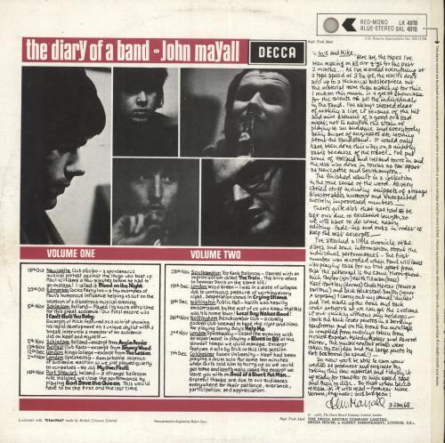 John Mayall The Diary Of A Band Volume One - 1st vinyl LP album (LP record) UK JOMLPTH738585
