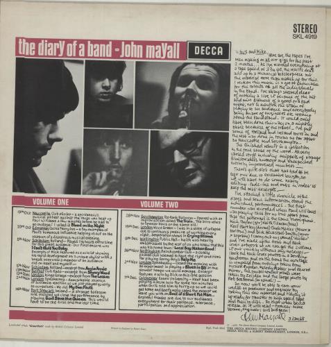 John Mayall The Diary Of A Band Volume Two - 1st vinyl LP album (LP record) UK JOMLPTH221897