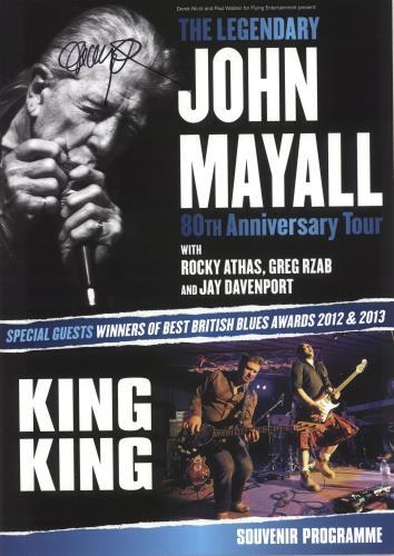 John Mayall The Legendary John Mayall 80th Anniversary Tour - Autographed tour programme UK JOMTRTH745925
