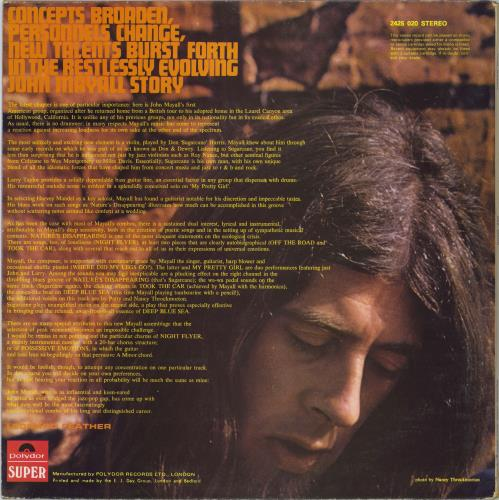 John Mayall USA Union - VG vinyl LP album (LP record) UK JOMLPUS773613