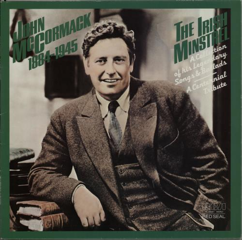 John McCormack The Irish Minstrel 1884-1945 vinyl LP album (LP record) German J6HLPTH649302