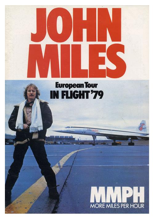 John Miles European Tour - In Flight '79 tour programme UK JMITREU583927