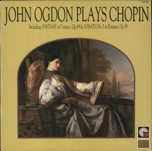 John Ogdon John Ogdon plays Chopin vinyl LP album (LP record) UK J57LPJO723231