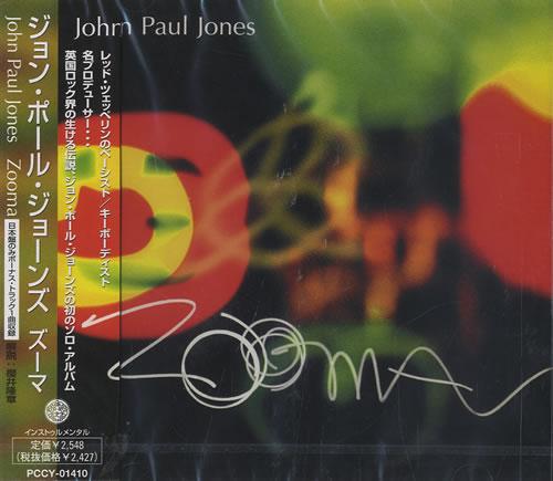John Paul Jones Zooma CD album (CDLP) Japanese JPJCDZO461388