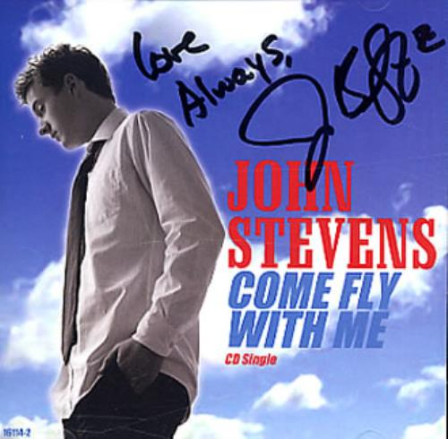 "John Stevens (American Idol) Come Fly With Me - AUTOGRAPHED CD single (CD5 / 5"") US JD9C5CO346544"