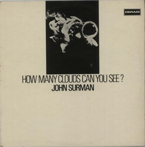 John Surman How Many Clouds Can You See? - 1st - VG+ vinyl LP album (LP record) UK JDTLPHO675244