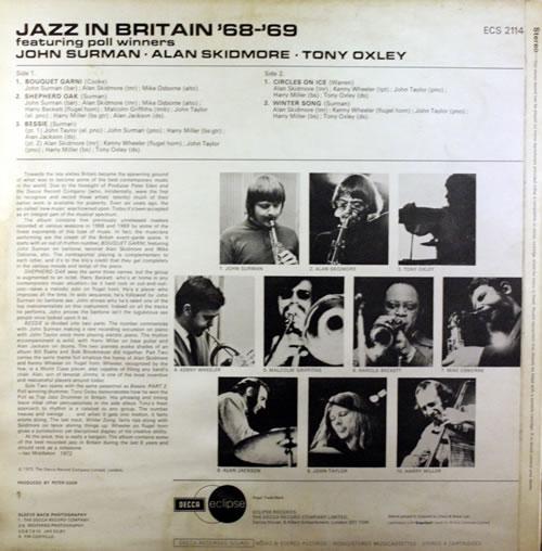 John Surman Jazz In Britain '68-'69 vinyl LP album (LP record) UK JDTLPJA416486