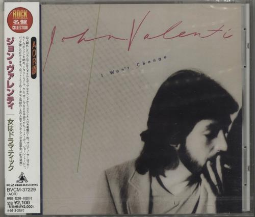 John Valenti I Won't Change CD album (CDLP) Japanese QOJCDIW685626