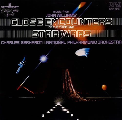 John Williams (Composer) Close Encounters Of The Third Kind & Star Wars vinyl LP album (LP record) UK WIALPCL476284