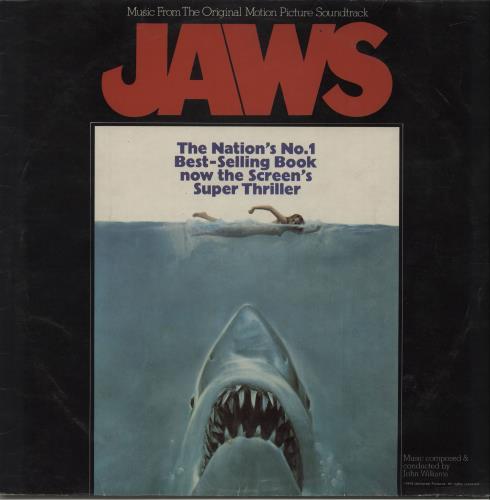 John Williams (Composer) Jaws vinyl LP album (LP record) UK WIALPJA547499