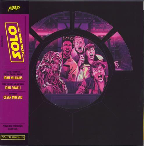 John Williams (Composer) Solo: A Star Wars Story - Black Vinyl + Obi 2-LP vinyl record set (Double Album) US WIA2LSO770732