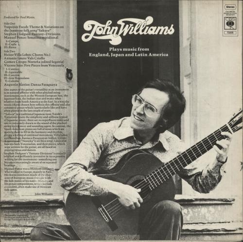John Williams (Guitarist) Plays Guitar Music From England Japan Brazil Venezuela Argentina & Mexico vinyl LP album (LP record) UK WLALPPL701432