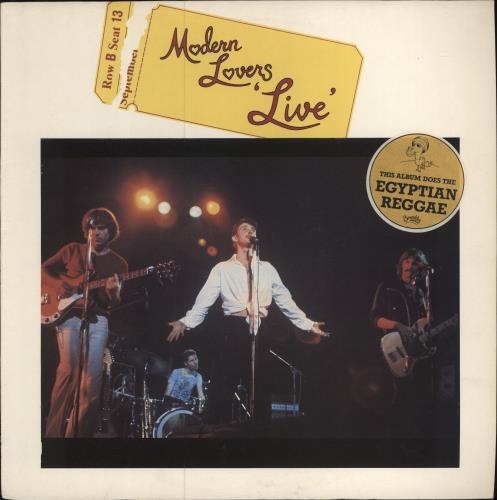Jonathan Richman & The Modern Lovers Modern Lovers Live - Stickered Sleeve vinyl LP album (LP record) UK JHRLPMO743653