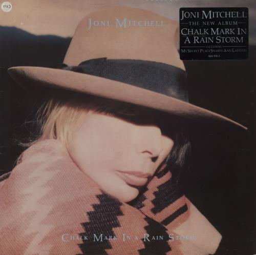 Joni Mitchell Chalk Mark In A Rain Storm - Hype Stickered Sleeve vinyl LP album (LP record) UK JNILPCH758094