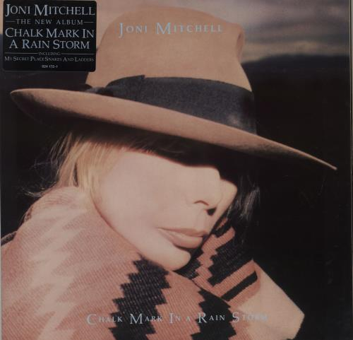 Joni Mitchell Chalk Mark In A Rain Storm - Stickered sleeve vinyl LP album (LP record) German JNILPCH753854