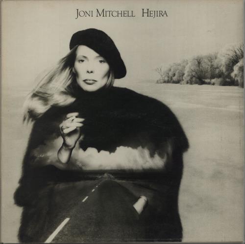 Joni Mitchell Hejira + Art Print - EX vinyl LP album (LP record) UK JNILPHE637802
