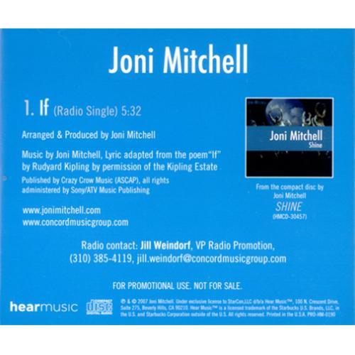 "Joni Mitchell If CD single (CD5 / 5"") US JNIC5IF418869"
