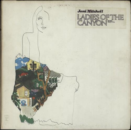Joni Mitchell Ladies Of The Canyon - Stickered sleeve vinyl LP album (LP record) US JNILPLA662381
