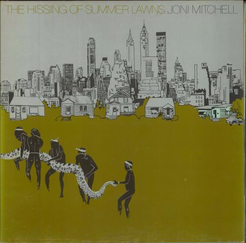 Joni Mitchell The Hissing Of Summer Lawns - embossed p/s vinyl LP album (LP record) UK JNILPTH98757