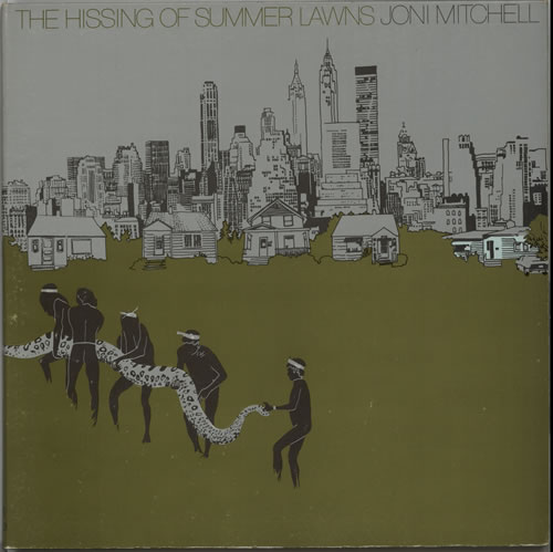 Joni Mitchell The Hissing Of Summer Lawns - EX vinyl LP album (LP record) UK JNILPTH634435