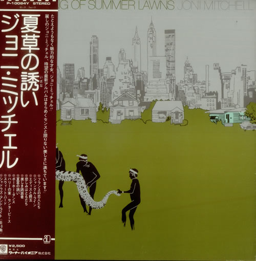 Joni Mitchell The Hissing Of Summer Lawns Japanese Promo