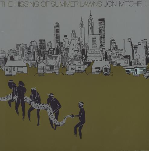 Joni Mitchell The Hissing Of Summer Lawns vinyl LP album (LP record) German JNILPTH751008