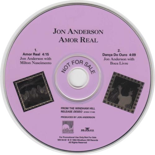 "Jon Anderson Amor Real CD single (CD5 / 5"") US JONC5AM107847"