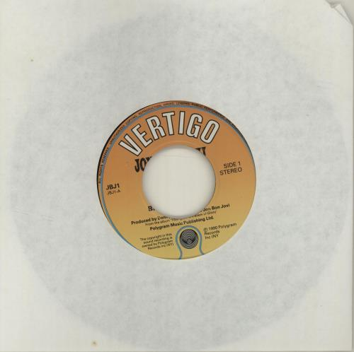 "Jon Bon Jovi Blaze Of Glory - Jukebox 7"" vinyl single (7 inch record) UK JBJ07BL682122"