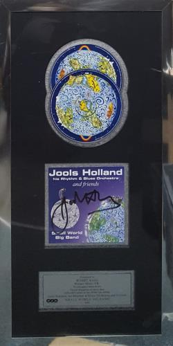Jools Holland Small World Big Band - Autographed award disc UK JOOAWSM333046