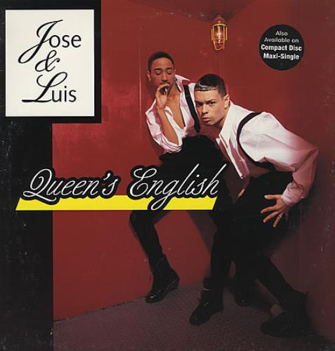 "Jose & Luis Queen's English - Promo Stamped 12"" vinyl single (12 inch record / Maxi-single) US J&L12QU71536"