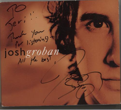 Josh Groban Closer - Autographed 2-disc CD/DVD set US JHG2DCL320144