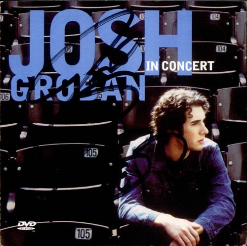 Josh Groban Josh Groban In Concert - Autographed P/S Only [No CD] memorabilia US JHGMMJO536296
