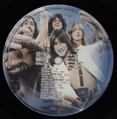 Journey Captured 2-LP vinyl record set (Double Album) Dutch JOU2LCA751586