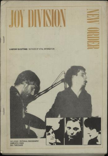 Joy Division A History In Cuttings - Yellow Text Cover book UK JOYBKAH729172