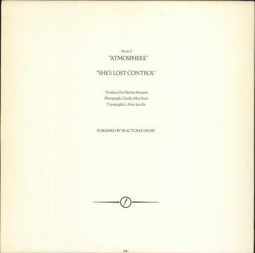 "Joy Division Atmosphere - 1st 12"" vinyl single (12 inch record / Maxi-single) UK JOY12AT14147"