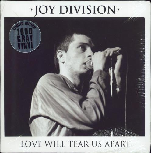"Joy Division Love Will Tear Us Apart - Grey Vinyl - Sealed 7"" vinyl single (7 inch record) US JOY07LO769229"
