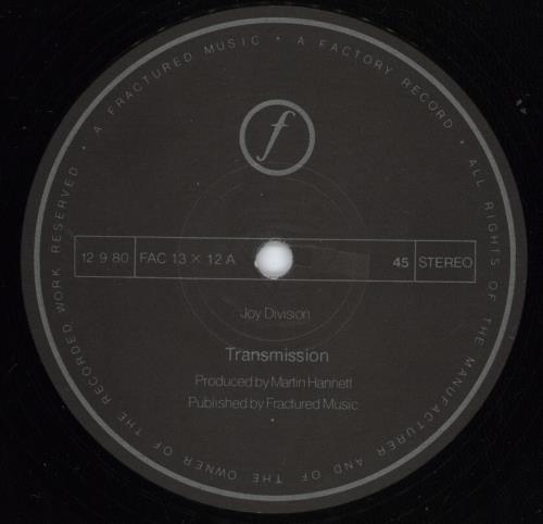 "Joy Division Transmission - 1st - VG 12"" vinyl single (12 inch record / Maxi-single) UK JOY12TR695415"