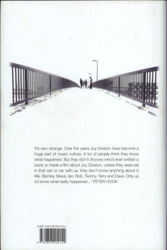 Joy Division Unknown Pleasures: Inside Joy Division book UK JOYBKUN774044