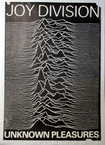 Joy Division Unknown Pleasures poster UK JOYPOUN608684
