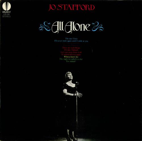 Jo Stafford All Alone vinyl LP album (LP record) UK JS0LPAL448642