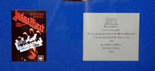 Judas Priest British Steel award disc UK JUDAWBR644793