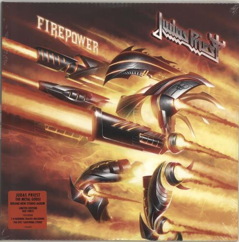 Judas Priest Firepower - Red Vinyl - Sealed 2-LP vinyl record set (Double Album) UK JUD2LFI692262