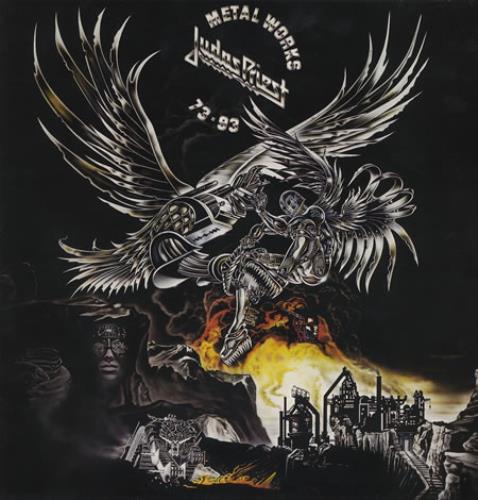 Judas Priest Metal Works 73-93 2-LP vinyl record set (Double Album) UK JUD2LME384543