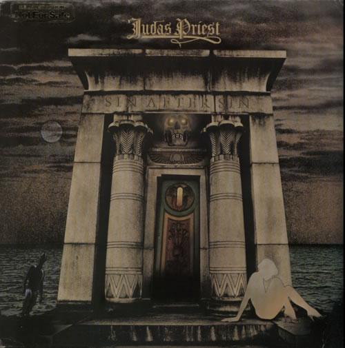 Judas Priest Sin After Sin - Promo Stamped vinyl LP album (LP record) UK JUDLPSI595436