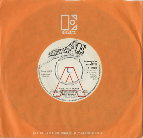 """Judy Collins Cook With Honey 7"""" vinyl single (7 inch record) UK JUC07CO471231"""