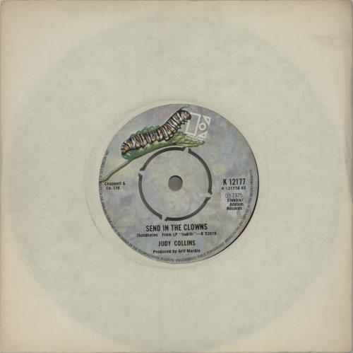 "Judy Collins Send In The Clowns 7"" vinyl single (7 inch record) UK JUC07SE678932"