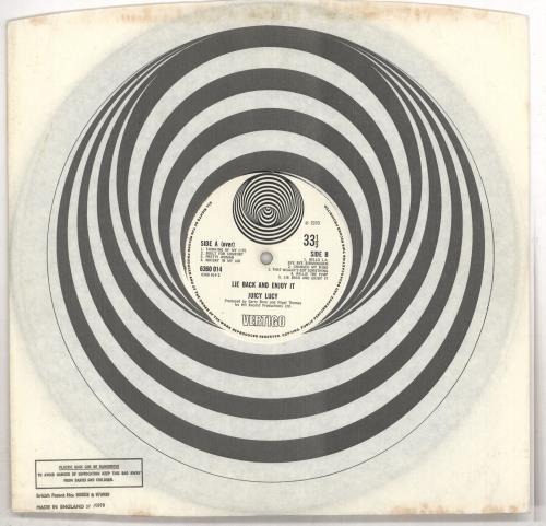 Juicy Lucy Lie Back And Enjoy It vinyl LP album (LP record) UK JUILPLI257620