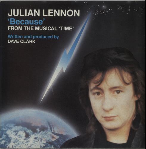 "Julian Lennon Because 7"" vinyl single (7 inch record) UK JLN07BE45251"