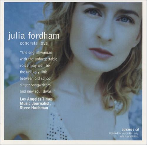 Julia Fordham Concrete Love CD album (CDLP) US JULCDCO411405