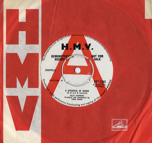 "Julie Andrews A Spoonful Of Sugar / Chim Chim Cheree 7"" vinyl single (7 inch record) UK JAR07AS481066"